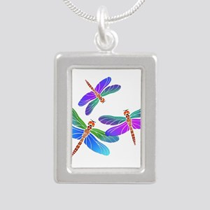 Dive Bombing Iridescent Dragonflies Necklaces