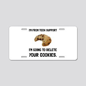 Tech Support Cookies Aluminum License Plate