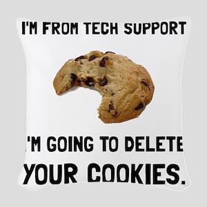 Tech Support Cookies Woven Throw Pillow