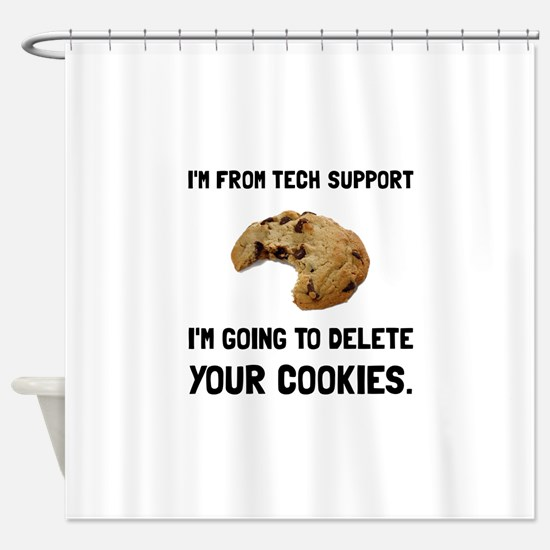 Tech Support Cookies Shower Curtain