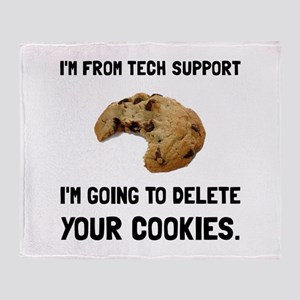 Tech Support Cookies Throw Blanket