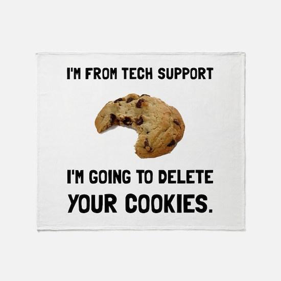Tech Support Cookies Throw Blanket