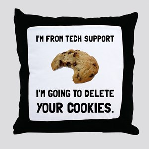 Tech Support Cookies Throw Pillow