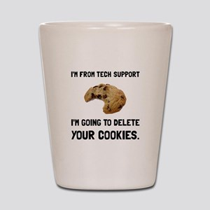 Tech Support Cookies Shot Glass