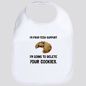 Tech Support Cookies Bib