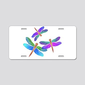 Dive Bombing Iridescent Dra Aluminum License Plate