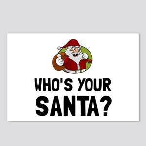 Who Is Your Santa Postcards (Package of 8)