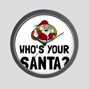 Who Is Your Santa Wall Clock
