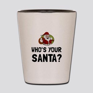 Who Is Your Santa Shot Glass