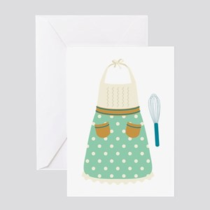 Kitchen Apron Whisk Baking Greeting Cards