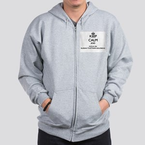 Keep calm and focus on Russian Tsvetnay Zip Hoodie