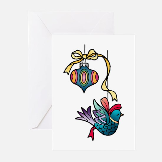 Christmas Art Tree Decorations Greeting Cards (6)