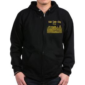 Salt Lake City Zip Hoodie (dark)