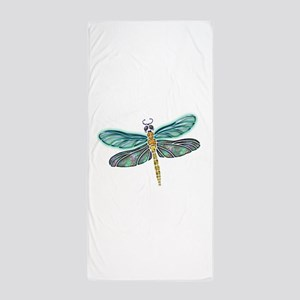 Glowing Stained Glass and Abalone Shel Beach Towel