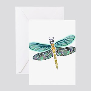 Glowing Stained Glass and Abalone S Greeting Cards