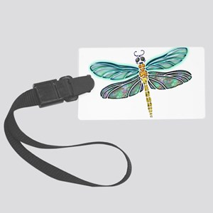 Glowing Stained Glass and Abalon Large Luggage Tag