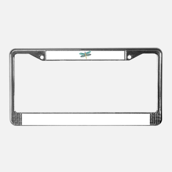 Glowing Stained Glass and Abal License Plate Frame