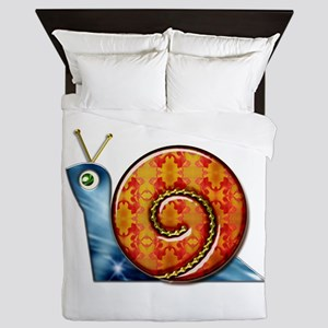 Sly Decorated Snail Queen Duvet