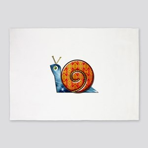 Sly Decorated Snail 5'x7'Area Rug