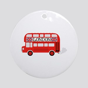 London Double Decker Ornament (Round)