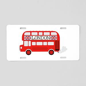 London Double Decker Aluminum License Plate