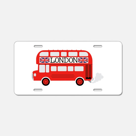 London Double Decker Aluminum License Plate