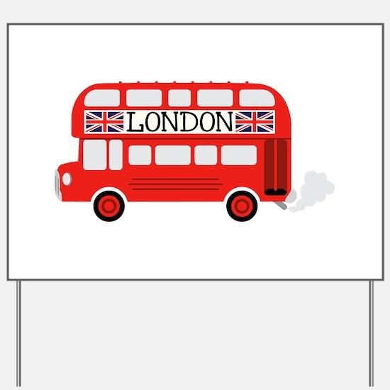 London Double Decker Yard Sign