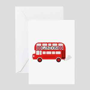 London Double Decker Greeting Cards