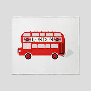 London Double Decker Throw Blanket