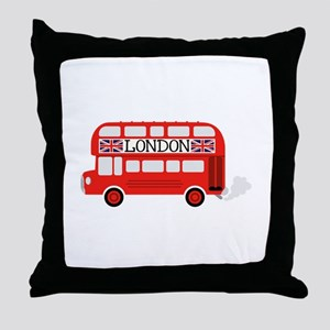 London Double Decker Throw Pillow