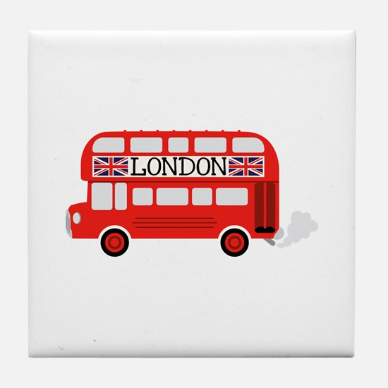 London Double Decker Tile Coaster