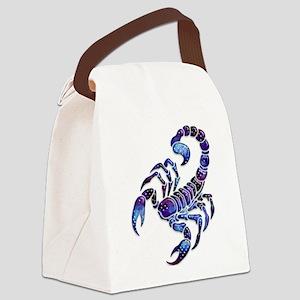 Celestial Rainbow Scorpion Canvas Lunch Bag