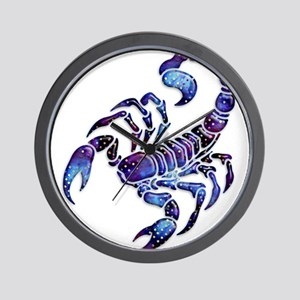 Celestial Rainbow Scorpion Wall Clock