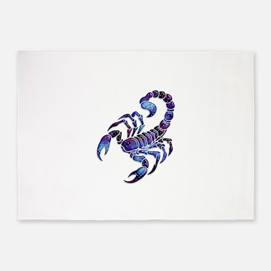 Celestial Rainbow Scorpion 5'x7'Area Rug
