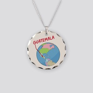 00-ornR-guatemalaglobe Necklace Circle Charm