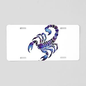 Celestial Rainbow Scorpion Aluminum License Plate