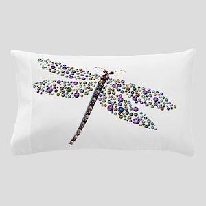 Pointilist Gem Studded Dragon Fly Pillow Case