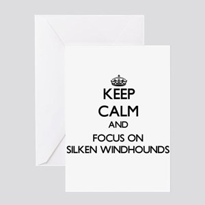 Keep calm and focus on Silken Windh Greeting Cards