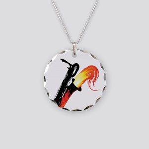 barisax-flame-ornR Necklace Circle Charm
