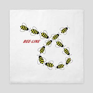 Let's Make a Bee Line Queen Duvet