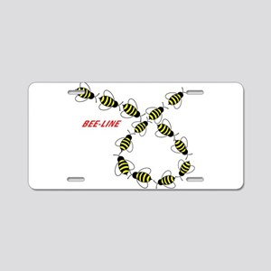 Let's Make a Bee Line Aluminum License Plate