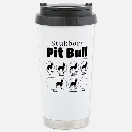 Stubborn Pit Bull v2 Stainless Steel Travel Mug