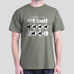 Stubborn Pit Bull v2 Dark T-Shirt