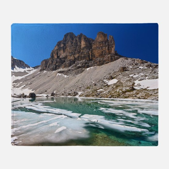 Dolomiti - lake Pisciadu Throw Blanket