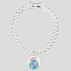 00-ornR-slovakia-globe.p Charm Bracelet, One Charm