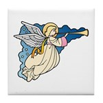 Christmas Art Angel Tile Coaster