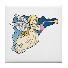 Christmas Art Angel Tile Coaster