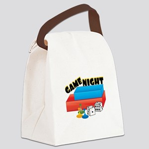 Game Night Canvas Lunch Bag
