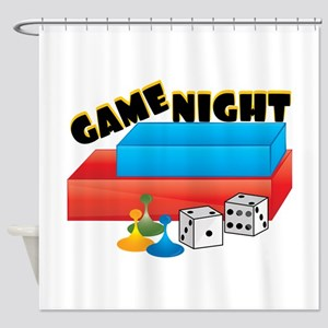 Game Night Shower Curtain