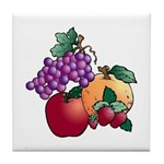 Nature Art Fruit Design Tile Coaster
